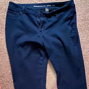 Avenue Dark Washed Jeans Straight Leg 18A